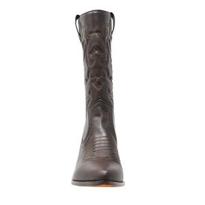 902acf55680 Chase + Chloe Shoes - Women s Chocolate Brown Low Heel Cowboy Boot